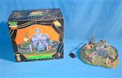 LEMAX SPOOKY TOWN COLLECTION HILLSIDE MAUSOLEUM TABLE ACCENT LIGHTED & ANIMATED
